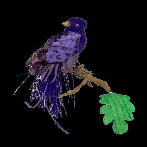 paarse paradijsvogel van papier