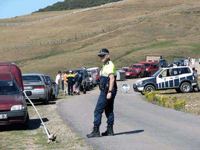 Policía local de Mieres de servicio en Babia