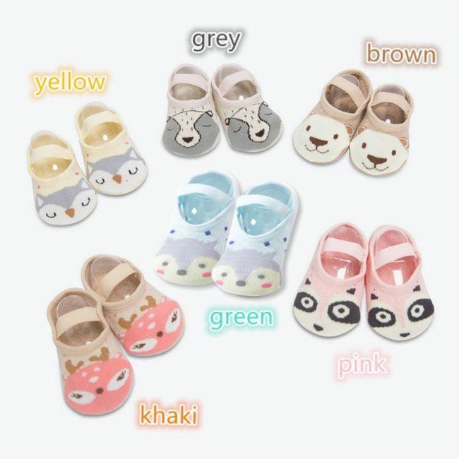 1 Pair Fashion Baby Girls Boys Cute Cartoon Non slip Cotton Toddler Floor Socks Animal pattern 5