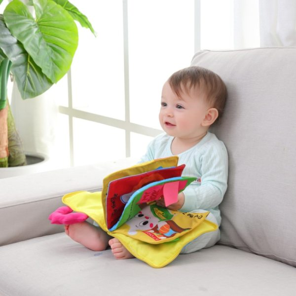 12 Pages Educational Baby Toys Hot Infant Kids Early Development Cloth Books Cartoon Animal Learning Unfolding 1