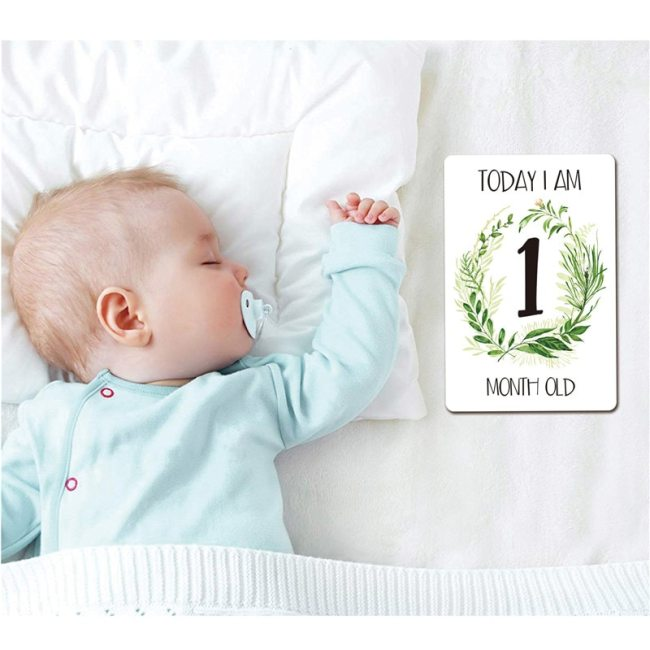 12 Pcs Month Sticker Baby Photography Milestone Memorial Monthly Newborn Kids Commemorative Card Number Photo Accessories 5