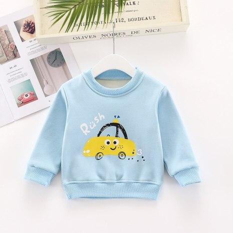 2020 Brand Children Sweatshirt Toddler Girl Baby Fleece Hoodies Warm Pullovers Boy Autumn Winter Cartoon Rabbit 1