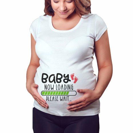 2020 Brand New Women Pregnancy Clothes Baby Now Loading Pls Wait Maternity T Shirt Summer Short 3