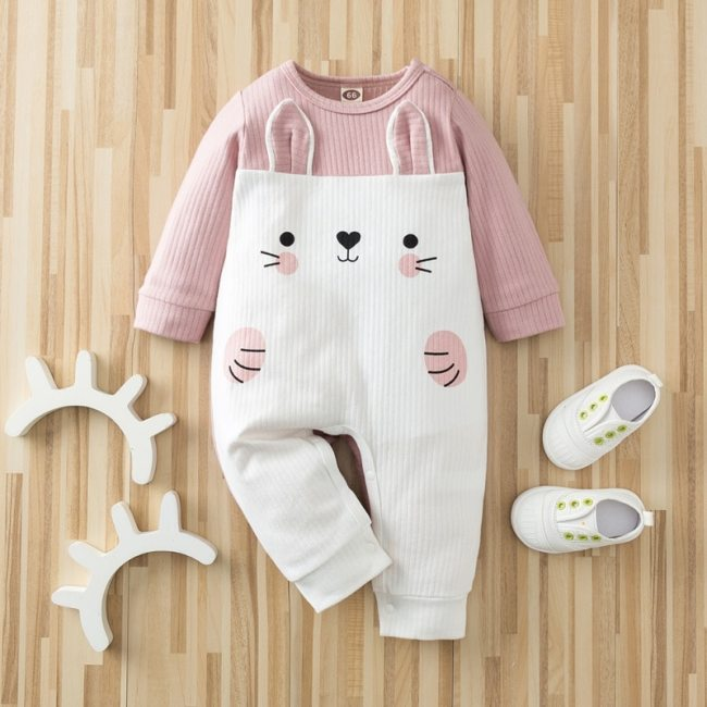 Autumn Kintted baby clothes full sleeve cotton infantis baby clothing romper cartoon costume ropa bebe newborn 2