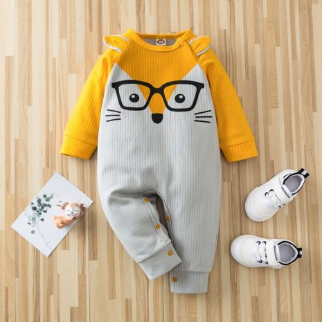 Autumn Kintted baby clothes full sleeve cotton infantis baby clothing romper cartoon costume ropa bebe newborn 5
