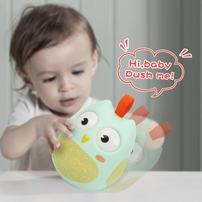 Baby Rattles Tumbler Doll Baby Toys Sweet Bell Music Roly poly Early Learning Education Toys Gifts 1