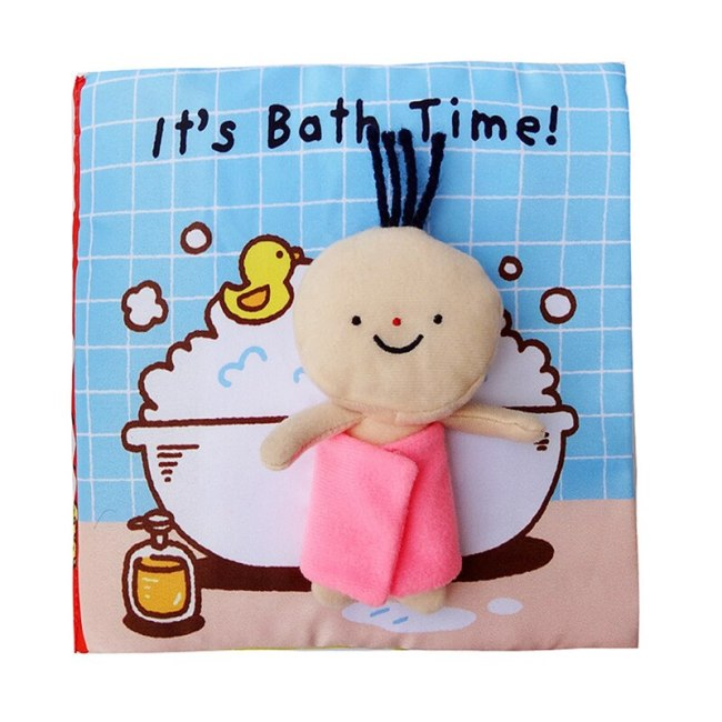 Baby Soft Cloth Book Infant Early Cognitive Development Education Bathing Toilet Book Child Interactive Book First 1