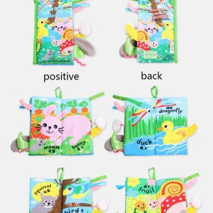 Baby cloth book Baby Toys Infant Early Development Cloth Books For Kids Learning Education Activity Books 1