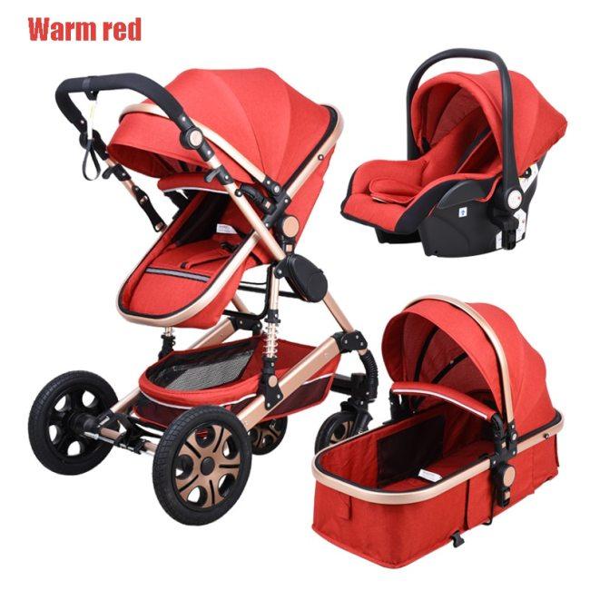 Babyfond 3 in 1 Baby Stroller Multifunctional High Landscape Stroller two way child Pram Baby Comfort 2
