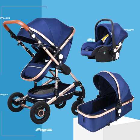 Babyfond stroller High landscape Baby Stroller 3 in 1 with Car Seat Folding Baby Carriage for 1
