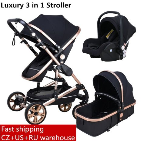 Babyfond stroller High landscape Baby Stroller 3 in 1 with Car Seat Folding Baby Carriage for