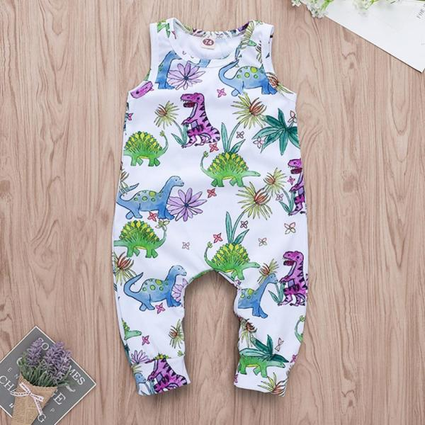 Cartoon Dinosaur Romper Toddler Baby Boys Jumpsuit Clothes Playsuit Outfits roupas menino Onesies baby clothing kinder 1