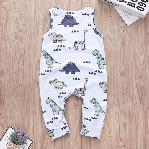 Cartoon Dinosaur Romper Toddler Baby Boys Jumpsuit Clothes Playsuit Outfits roupas menino Onesies baby clothing kinder 2
