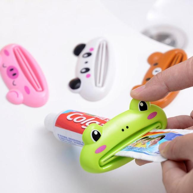 Cute Toothpaste Dispenser Holder Kid Toothpaste Animal Tooth Paste Tube Squeezer Rolling Home Bathroom Supplies Baby 1