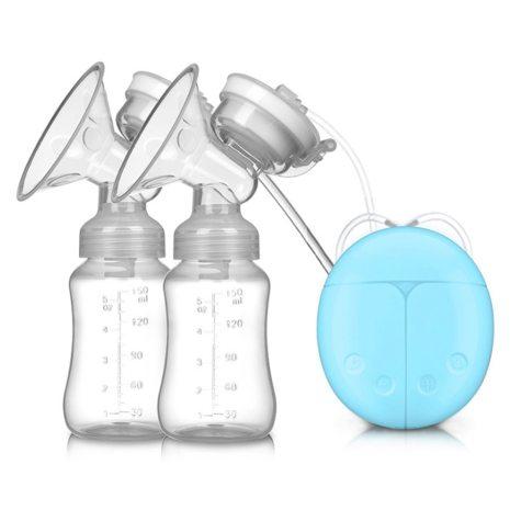Double Bilateral Electric Breast Pump Milker Suction Large Automatic Massage Postpartum Milk Maker Bebes Accesorios 1