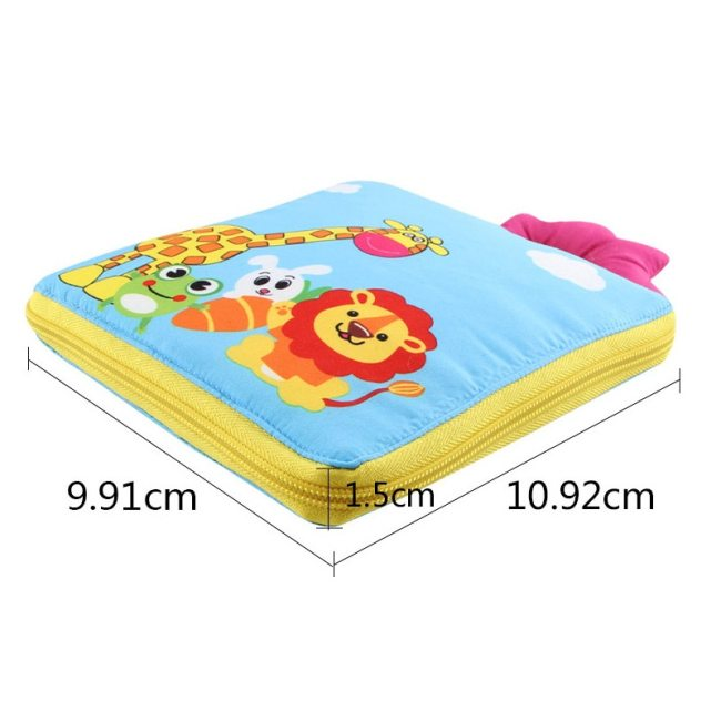 Educational Baby Rattles Mobiles Toys Infant Kids Early Development Cloth Books Cartoon Animal Learning Unfolding Animal 3