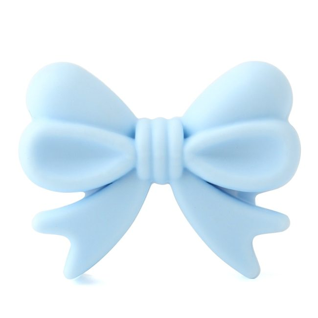Keep grow 10Pcs Bowknot Silicon Beads BPA Free Bow Tie Baby Teething Bead For DIY Jewelry 5