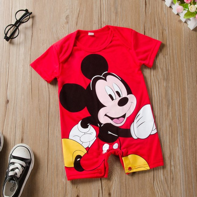 Mickey Baby Rompers Disney Baby Boy Clothes Minnie Baby Girls Clothing Roupas Bebe New Born Infrant 1