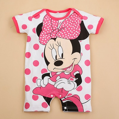 Mickey Baby Rompers Disney Baby Boy Clothes Minnie Baby Girls Clothing Roupas Bebe New Born Infrant 4