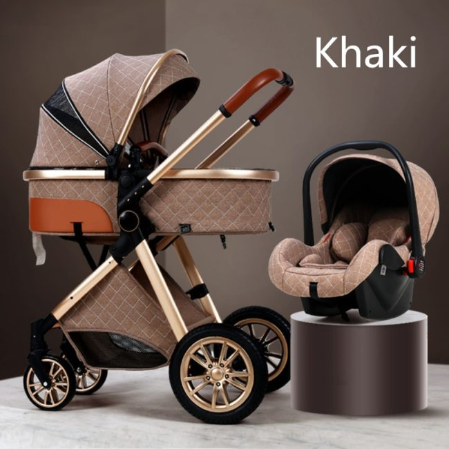 Multi functional 2 in 1 Baby Stroller High landscape Can Sit Reclining Light Folding Two way 8