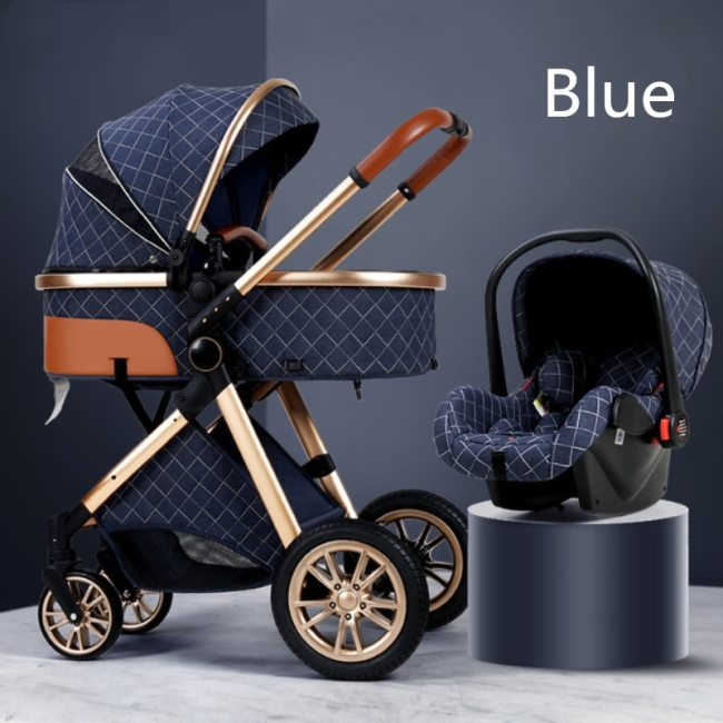 Multi functional 2 in 1 Baby Stroller High landscape Can Sit Reclining Light Folding Two way