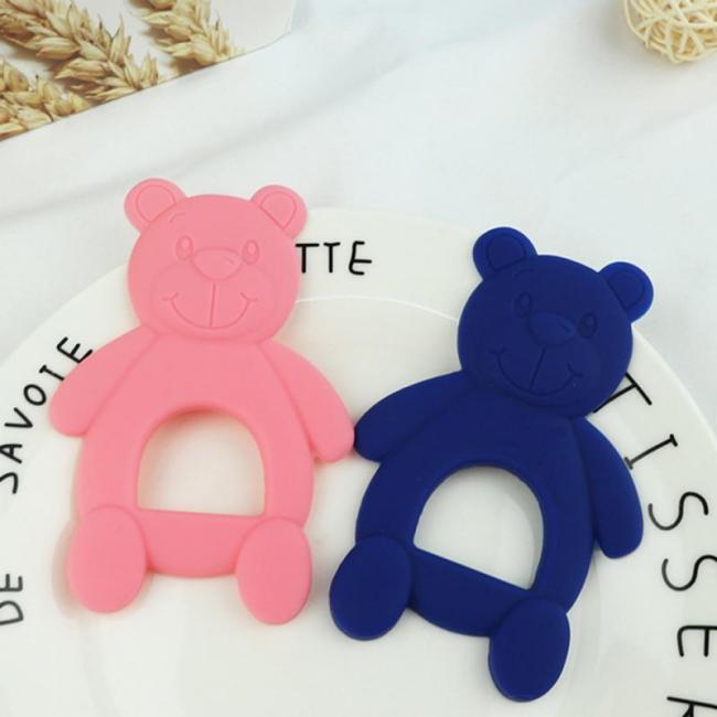 NEW Silicone Baby Teethers Cute Bear Shape Kids Teethers Safety Children Teething Infants Chewing Toys Newborn 3
