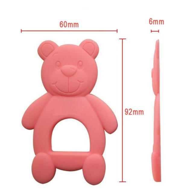 NEW Silicone Baby Teethers Cute Bear Shape Kids Teethers Safety Children Teething Infants Chewing Toys Newborn 5