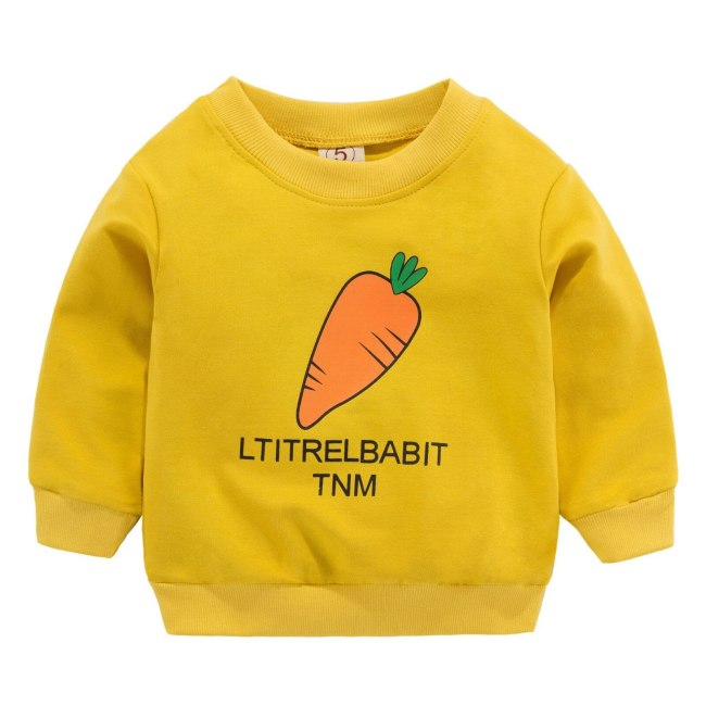 New Arrival Baby Girls Sweatshirts Strawberry Spring Autumn Toodler Boys Hoodies Long Sleeves Sweater Kids T 5
