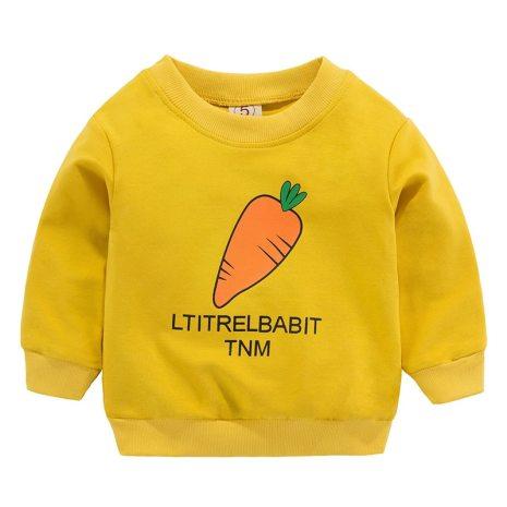 New Baby Boys Girls Sweatshirts Autumn Spring Cartoon Cotton Hoodies Tops Children Kids Long Sleeve T 3
