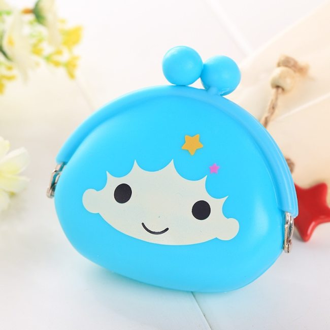 New Fashion Lovely Kawaii Candy Color Cartoon Animal Women Girls Wallet Multicolor Jelly Silicone Coin Bag 1