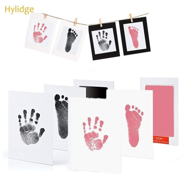 Safe Non toxic Baby Footprints Handprint No Touch Skin Inkless Ink Pads Kits for 0 6