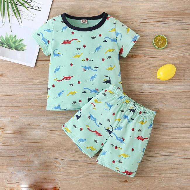 Summer New Fashion Newborn Infant Baby Boy Girl Cartoon Dinosaur Romper Jumpsuit Outfits Clothes Wholesale Free 3