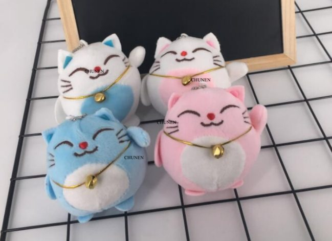 Sweet CAT 10CM Keychain Plush Stuffed TOY DOLL key chain Wedding Bouquet TOY Gift DOLL