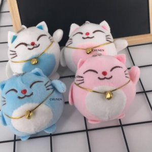Sweet CAT 10CM Keychain Plush Stuffed TOY DOLL key chain Wedding Bouquet TOY Gift DOLL