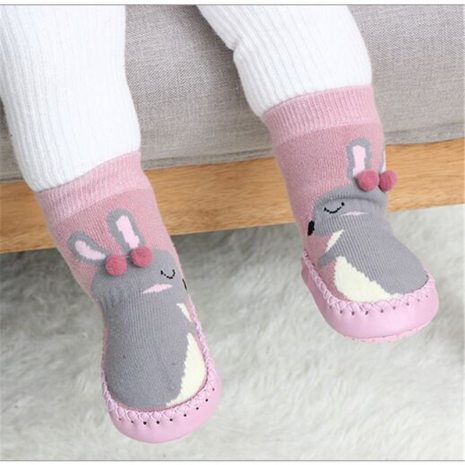 Toddler Indoor Sock Shoes Newborn Baby Socks Winter Thick Terry Cotton Baby Girl Sock with Rubber