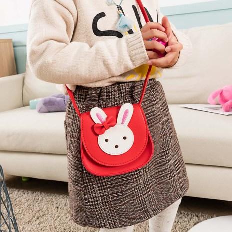 2019 Girl Coin Purse Handbag Children Wallet Small Coin Box Bag Cute Rabbit Kid Money Bag 3