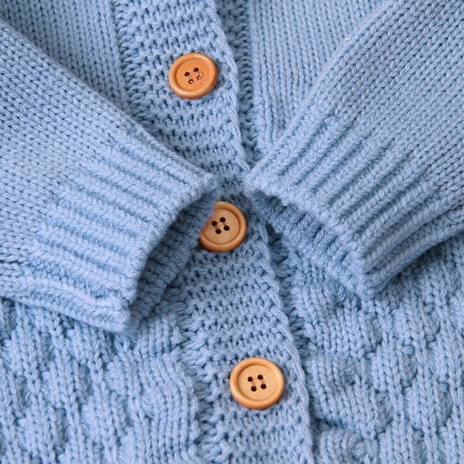 2020 Autumn Winter New Newborn Sweater Baby Clothes Romper Bear Ear Knit Hooded Jumpsuit Outfit Clothing 3