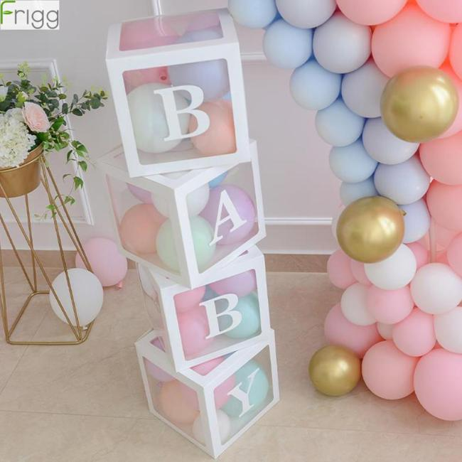 Baby Shower Boy Girl Transparent Box Baby Shower Decoration Baby Christening Birthday Party Decor Balloon Box 1