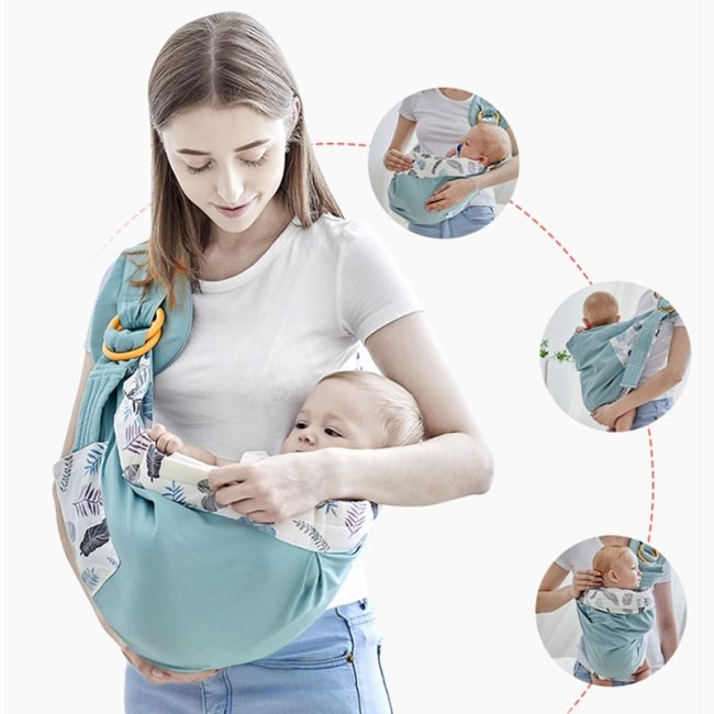 Baby Wrap Newborn Sling Dual Use Infant Nursing Cover Carrier Mesh Fabric Breastfeeding Carriers Up To 2