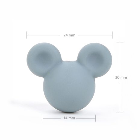 Wholesale 10pcs lot Mouse Baby Teething Beads Cartoon Silicone Beads For Necklaces BPA Free Teether Toy 2