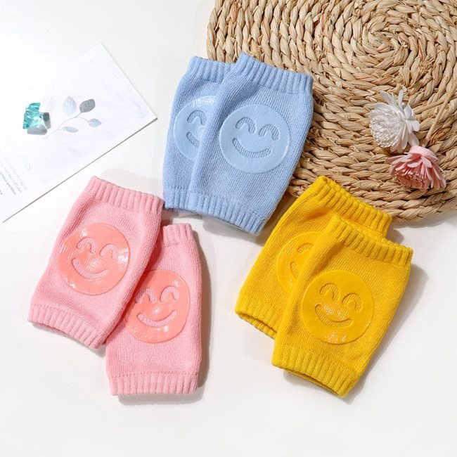 Kids Non Slip Crawling Elbow Infants Toddlers Baby Accessories Smile Knee Pads Protector Safety Kneepad Leg 2