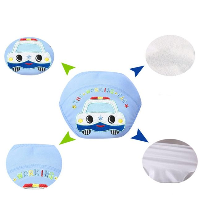 Washable Baby Diapers Reusable Cloth Nappies Waterproof Newborn Cotton Diaper Cover For Children Training Pants Potty 1