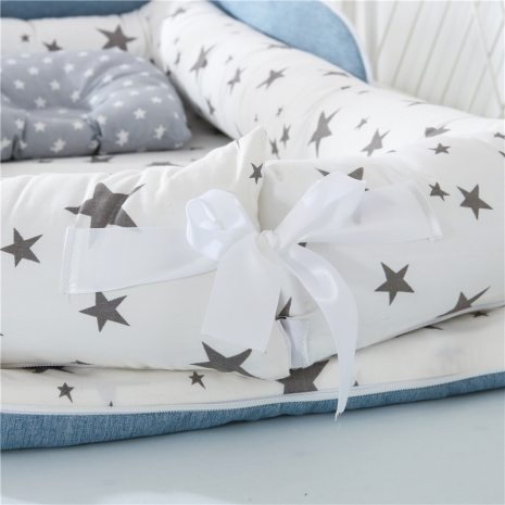 Portable Baby Nest Bed for Boys Girls Travel Bed Infant Cotton Cradle Crib Baby Bassinet Newborn 3