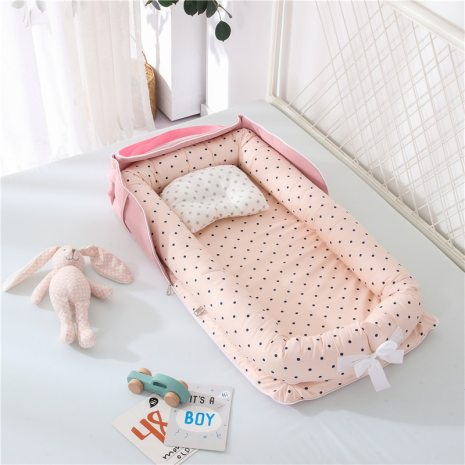 Portable Baby Nest Bed for Boys Girls Travel Bed Infant Cotton Cradle Crib Baby Bassinet Newborn 5