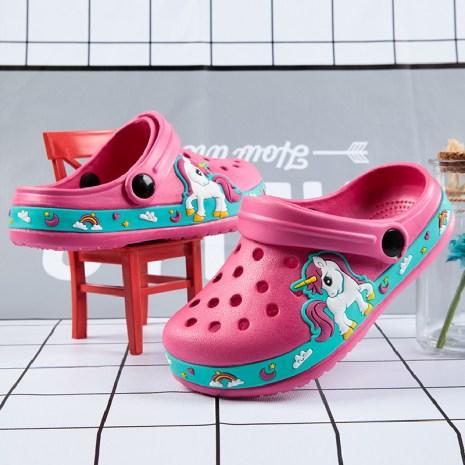 Baby Children Croc Shoes Summer Clogs Unicorn Beach Sandals Kids Garden Boys Girls Soft Non Slip 1