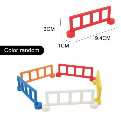 Fence Ladder Bridge Model Big Building Blocks Accessories Tree Flowers Toys For Children Compatible Big Size 1