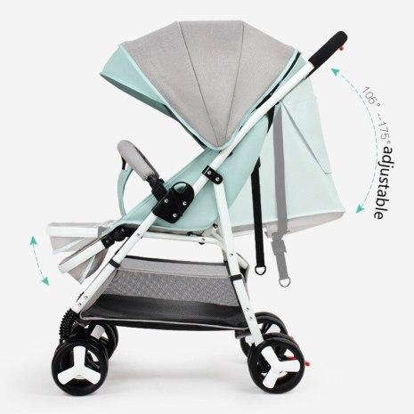 Travel Stroller High Landscape Baby Stroller Baby Buggy Folding Newborn Carriage 2 in 1 5 5KG 3