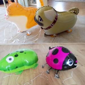 Walking Animal Helium Balloon Cute Cat Dog Dinosaur Foil Balloon Birthday Party Decorations Kids Baby shower 1