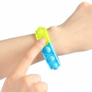 New Fidget Toys For Children Push Bubble Dimple Bracelet Decompression Toy Adults Anti Stress Reliever Sensory 1