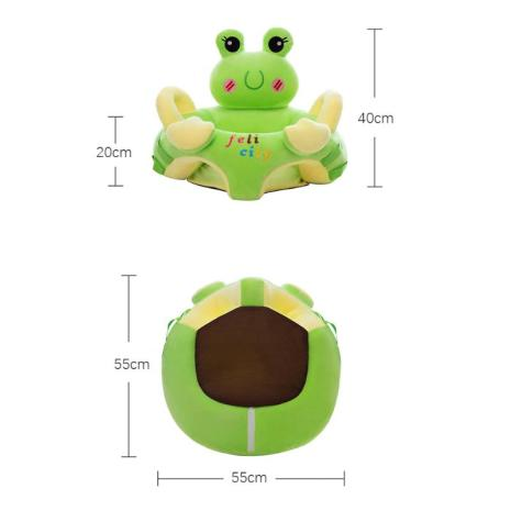 Sofa Set Support Seat Cover Baby Plush Chair Cartoon Learning Sit Plush Chair Toddler Nest Puff 5